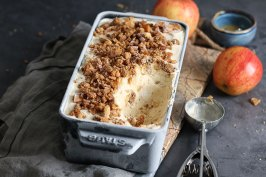 Apple Pie Ice Cream | Bake to the roots