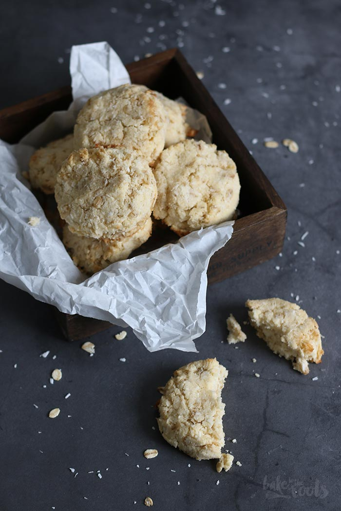 Oatmeal Coconut Cookies Gluten Free Sugar Free Bake To The Roots