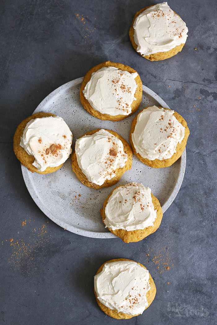 Frosted Pumpkin Cookies | Bake to the roots
