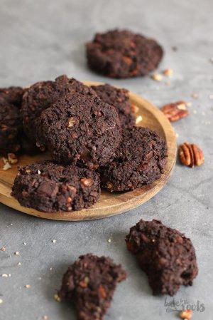 Avocado Pekannuss Chocolate Cookies (vegan)