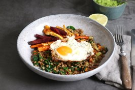 Ofengemüse mit Linsen und Pesto | Bake to the roots