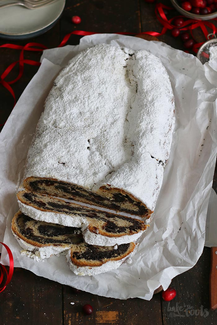 Cranberry Marzipan Mohn Stollen | Bake to the roots