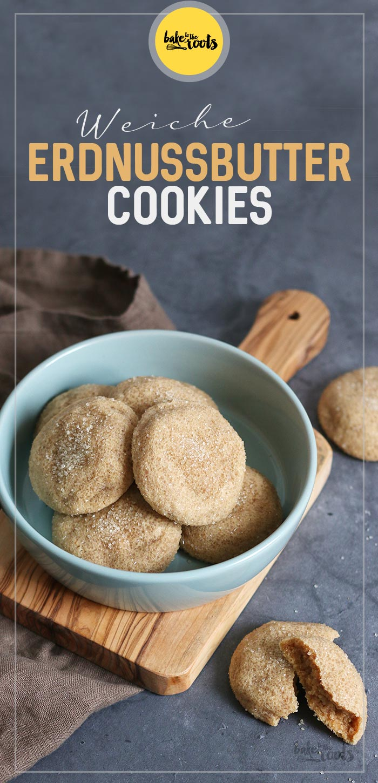 Weiche Erdnussbutter Cookies   Bake to the roots