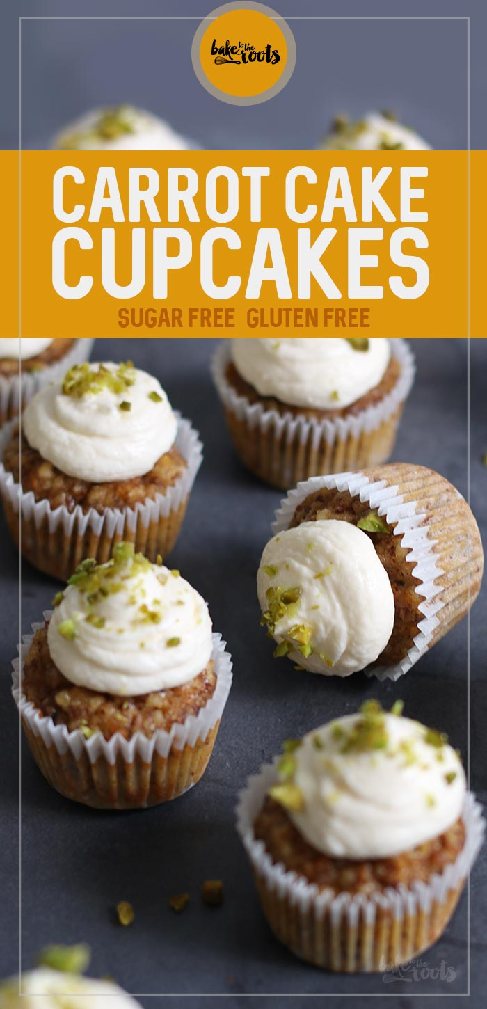 Mini Carrot Cake Cupcakes (sugar-free & gluten-free) | Bake to the roots