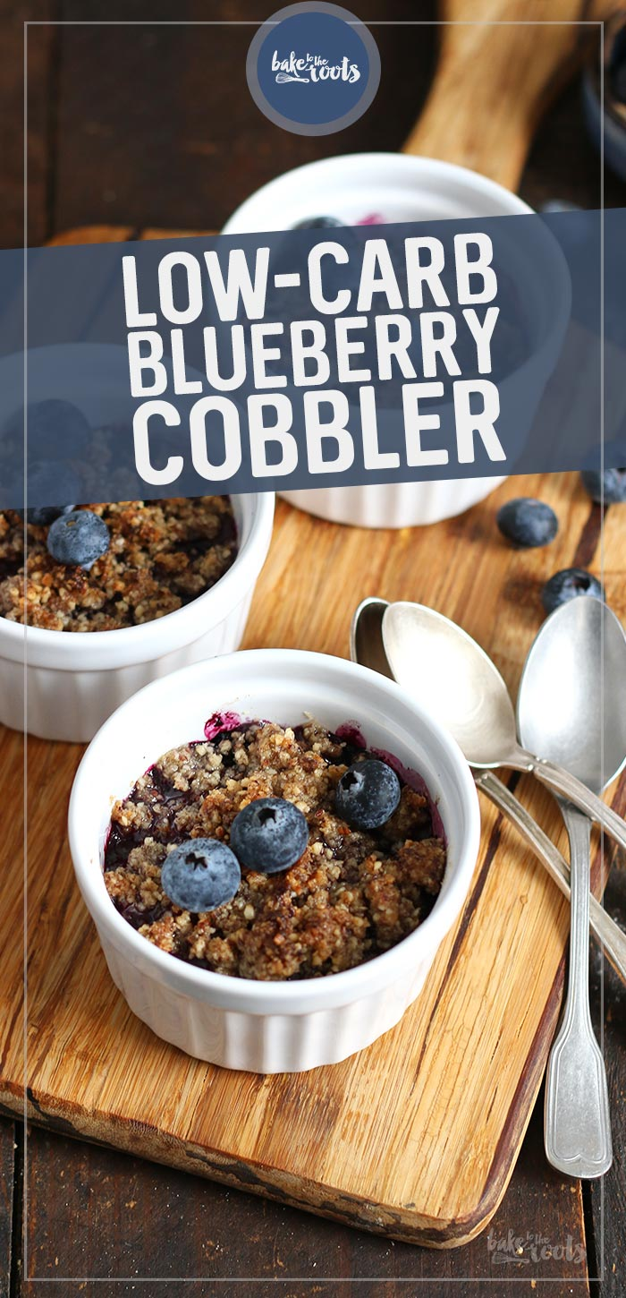 Low-Carb Blueberry Cobbler | Bake to the roots