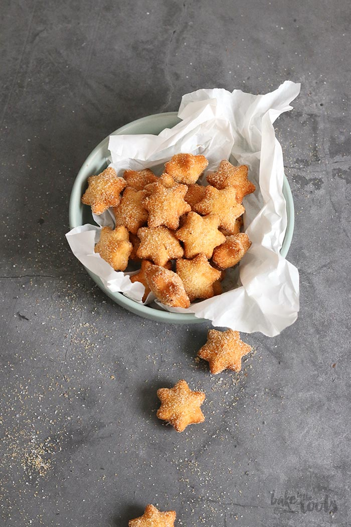 Frittierte Vanille Sterne | Bake to the roots