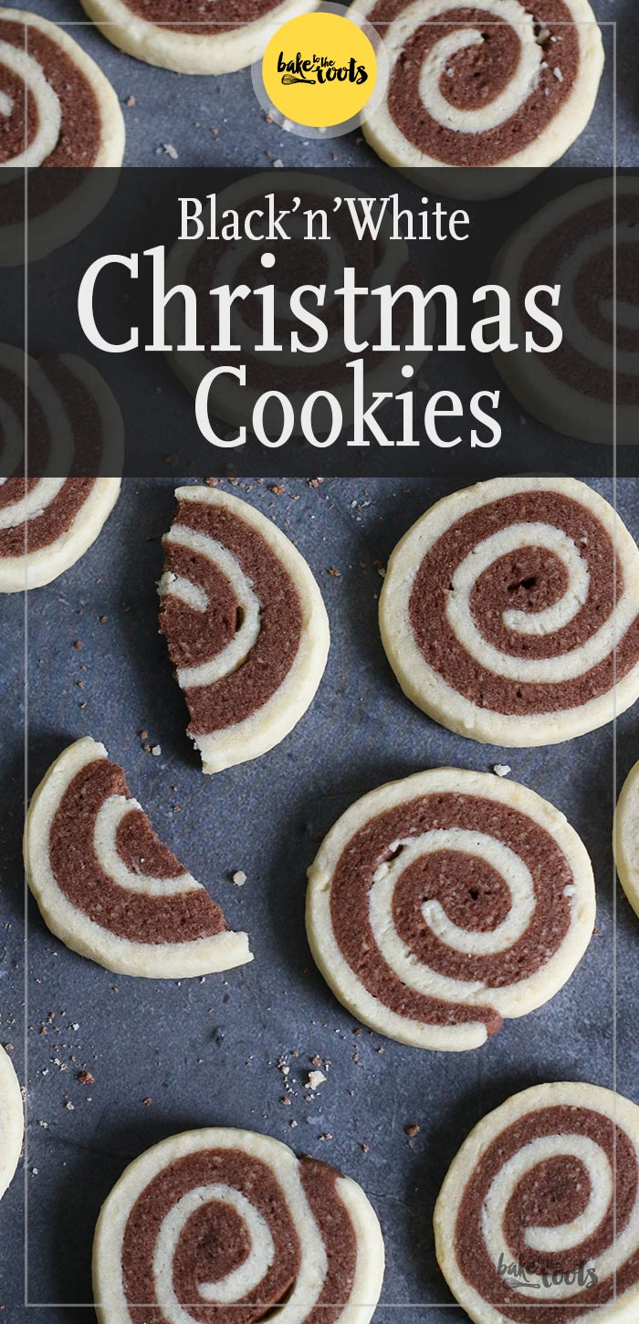 Black 'n' White Christmas Cookies | Bake to the roots