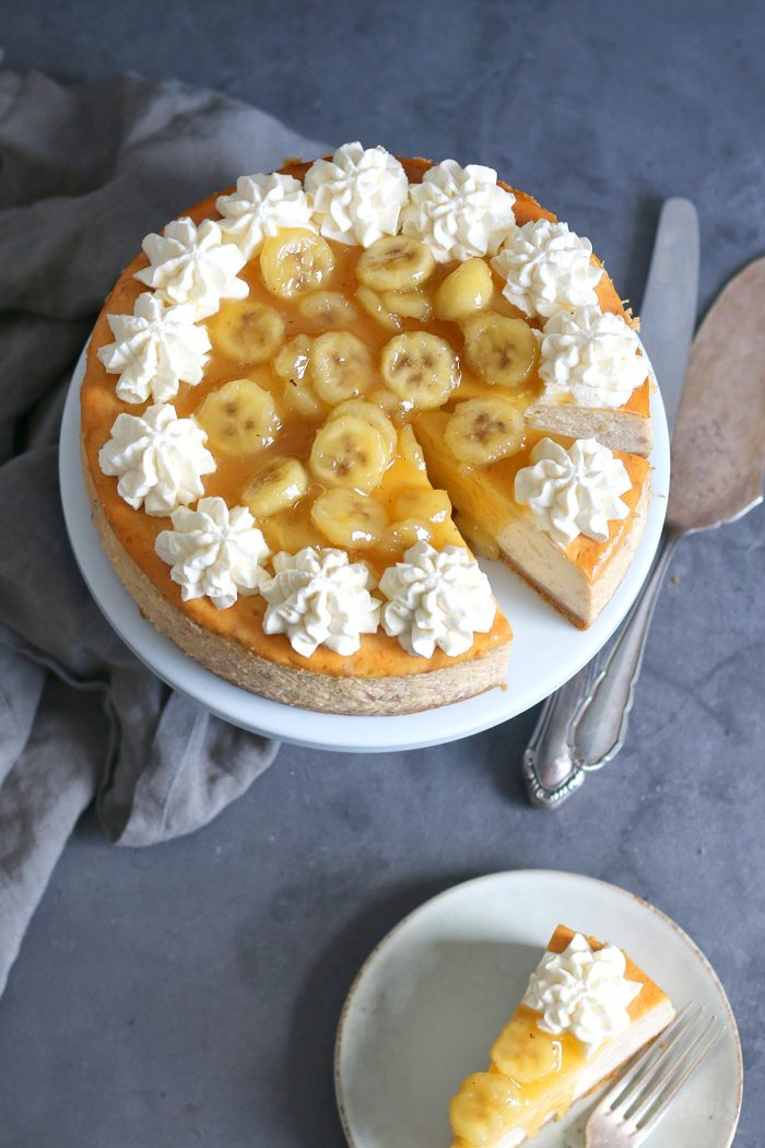 Bananas Foster Cheesecake   Bake to the roots
