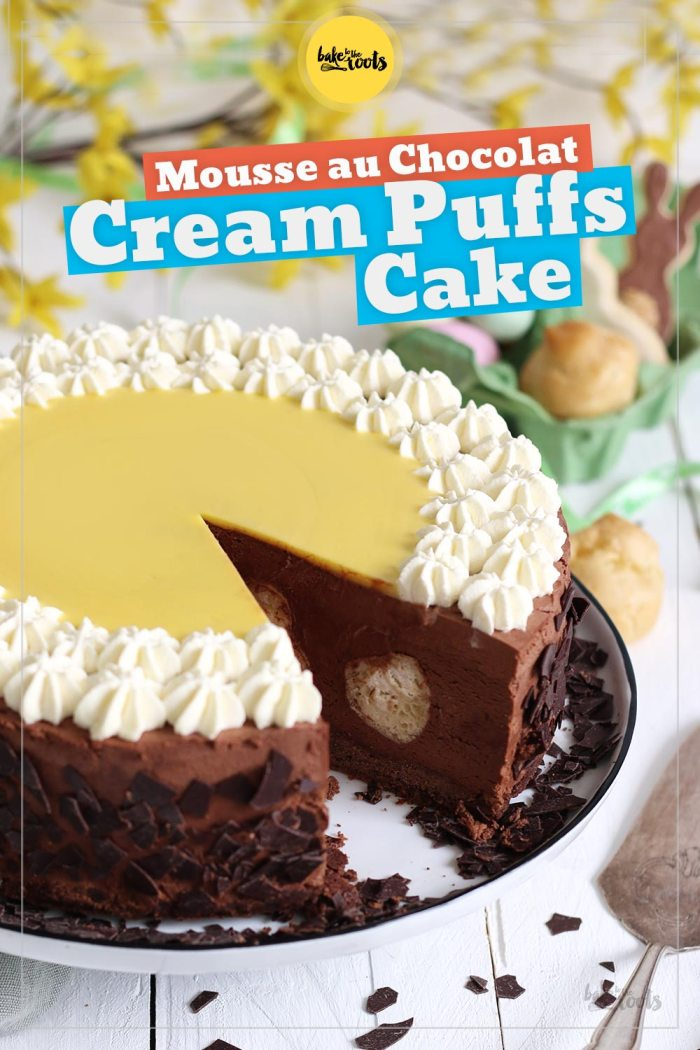 Mousse au Chocolat Cream Puffs Cake | Bake to the roots