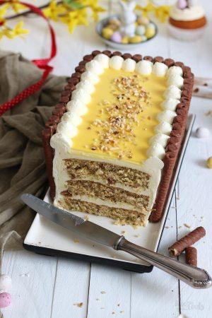 Haselnuss Eierlikör Torte mit Amicelli