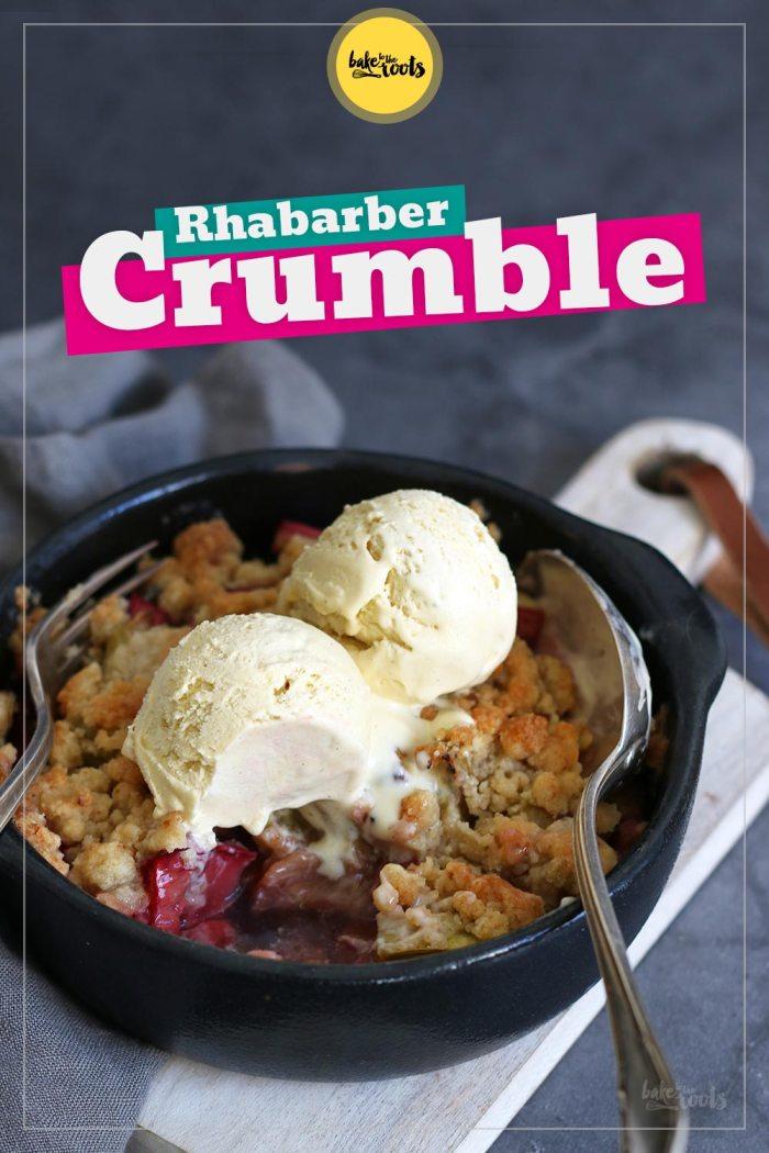 Rhabarber Crumble mit Kandiertem Ingwer | Bake to the roots