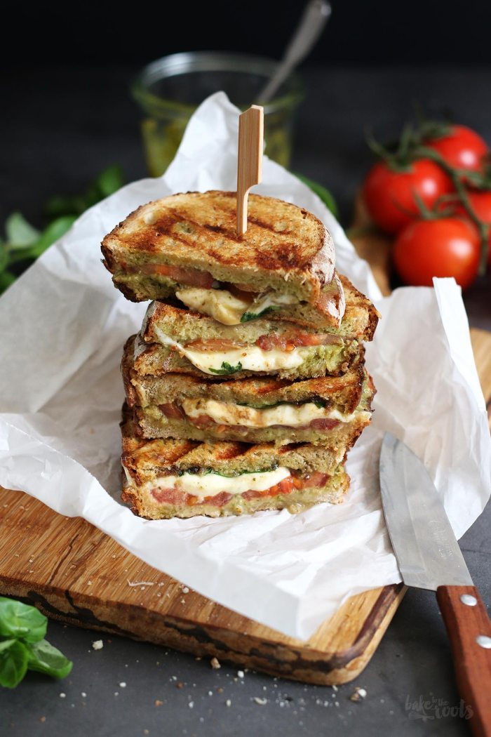 Caprese Panini Sandwich | Bake to the roots