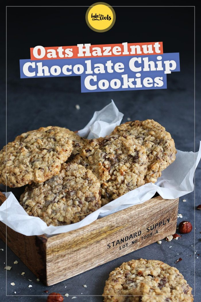 Oat Hazelnut Chocolate Chip Cookies | Bake to the roots
