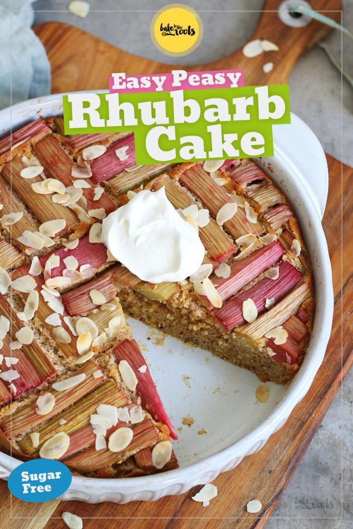 Easy Rhubarb Cake (sugar-free) | Bake to the roots