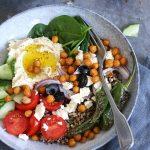 Mediterrane Hummus Bowl | Bake to the roots