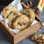 Toblerone Crunchy Almond Cookies | Bake to the roots