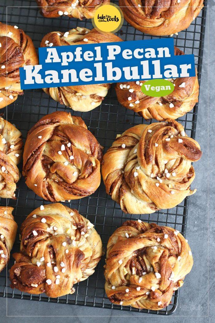 Vegane Schwedische Apfel Pekannuss Zimtschnecken (Kanelbullar)   Bake to the roots