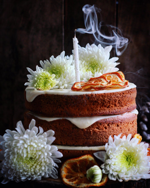 SPICED ORANGE CAKE WITH MASCARPONE