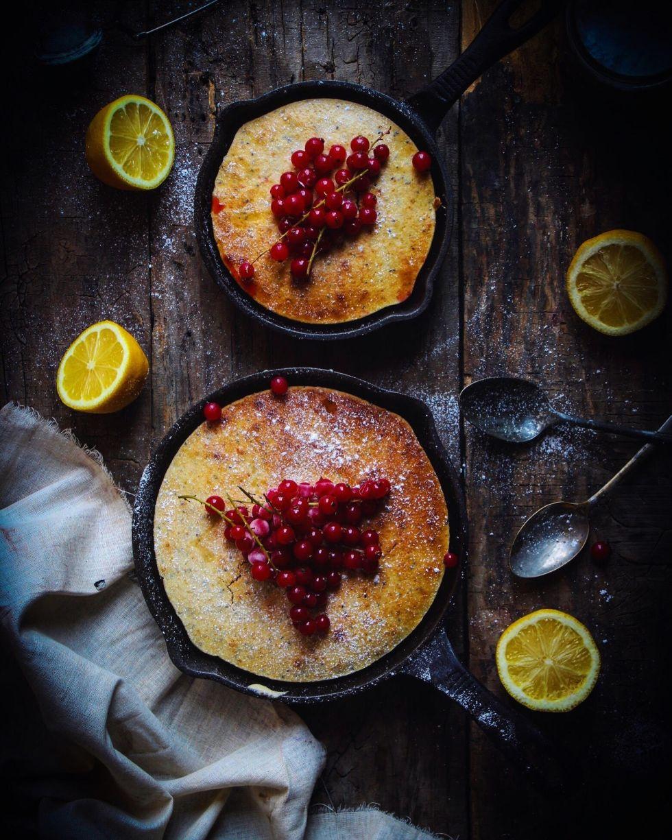 lemon chia seed skillet cake