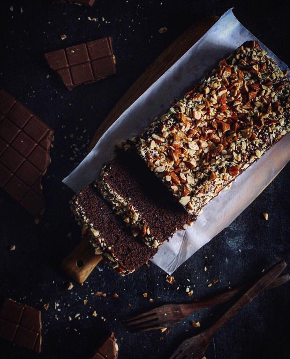 WHOLE WHEAT CHOCOLATE LOAF CAKE
