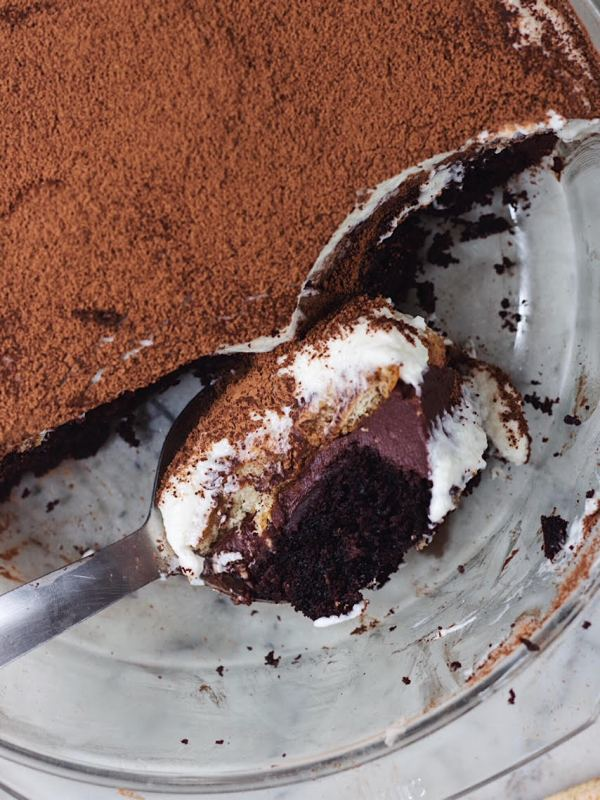chocolate cake tiramisu