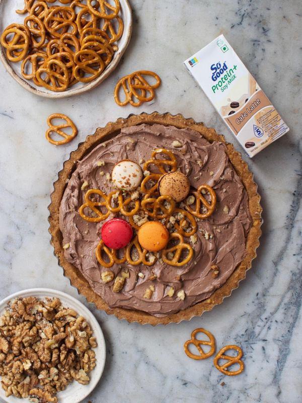NO BAKE EGGLESS CHOCOLATE MOUSSE TART