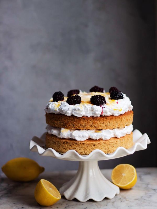 black tea lemon cake