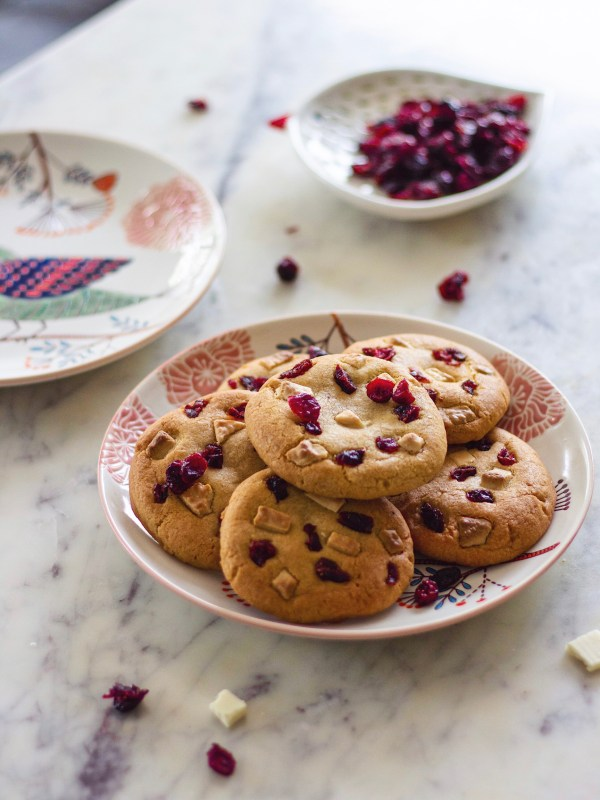 cranberry white chocolate cookies