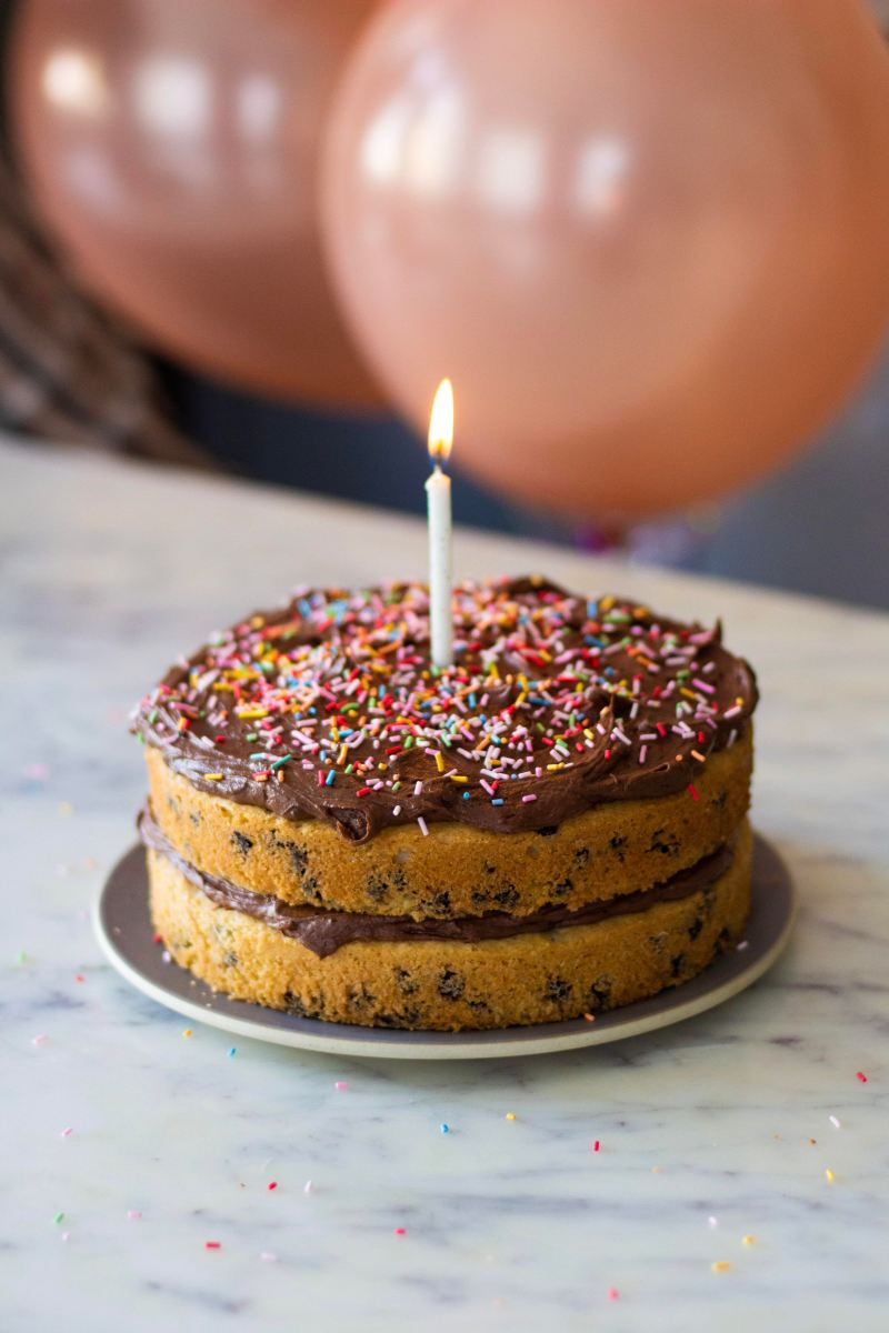 Birthday Cake- Chocolate Chip Cake