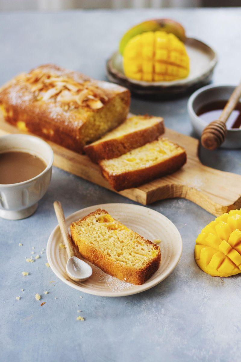 Mango Coconut Loaf Cake