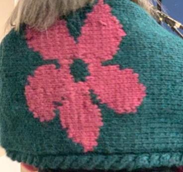 Flower Power Blanket Scarf (Self Designed)