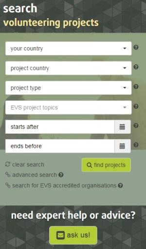 AGH projelerini bulmak için Avrupa Gençlik Portalı