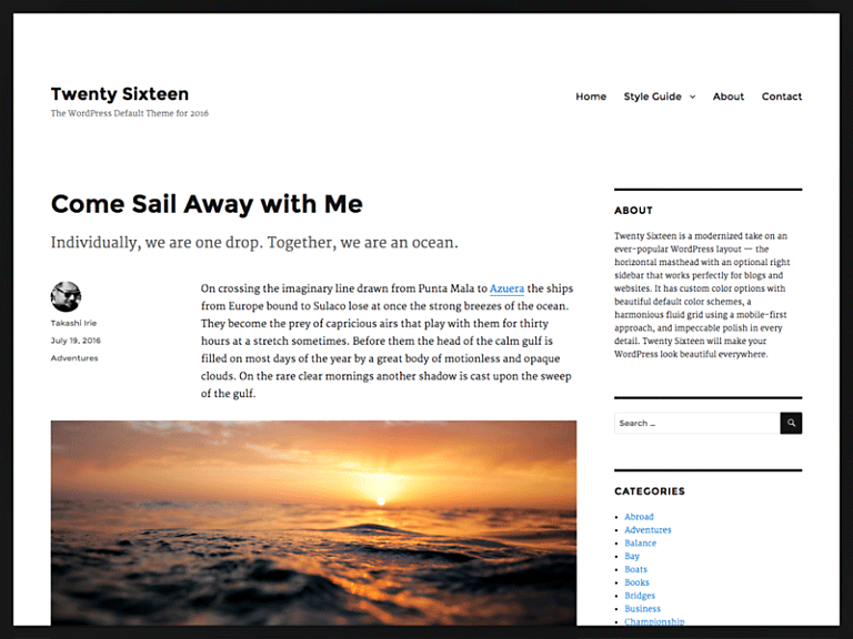 WordPress Blog Açma Varsayılan Tema