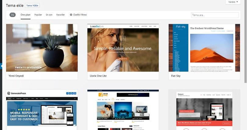 WordPress Tema Ekle
