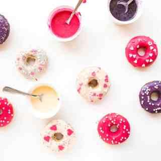 Healthy Valentines Vanilla Donuts