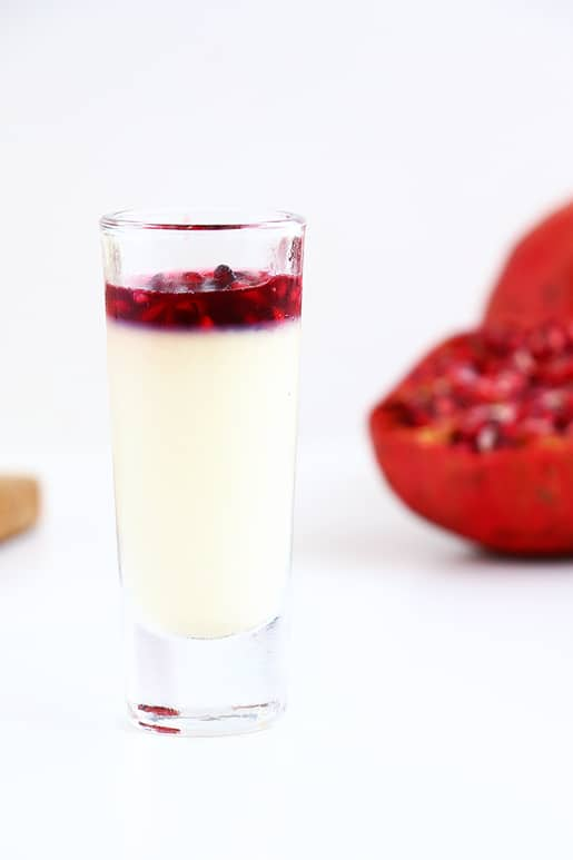 Pomegranate Panna Cotta - A beautiful soft dessert that is refreshing and so incredibly easy to make. The perfect elegant dessert for any occasion.