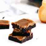 Fudgy Salted Caramel Brownies - The perfect combination of chewy, sweet, salty and scrumptious all wrapped up in one chocolate brownie.