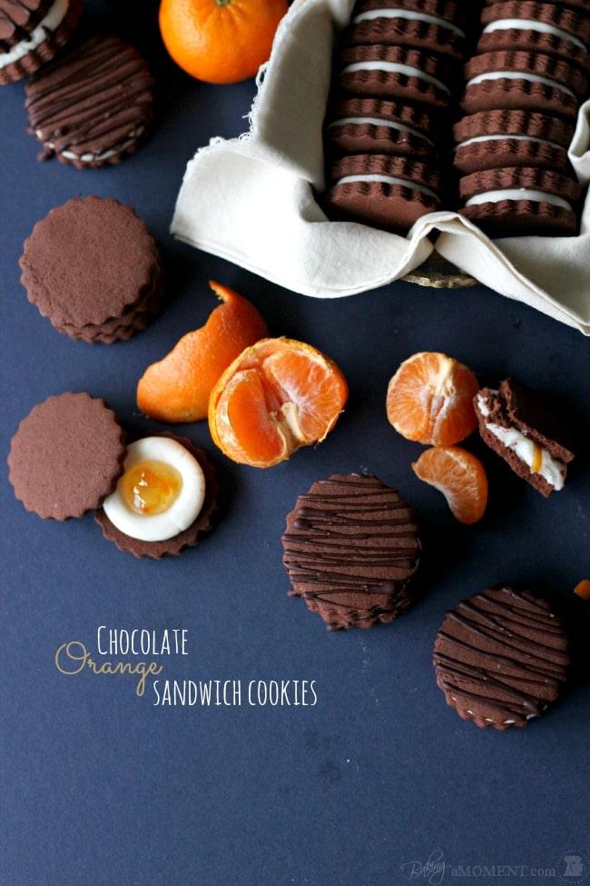Chocolate Orange Oreos | Baking a Moment
