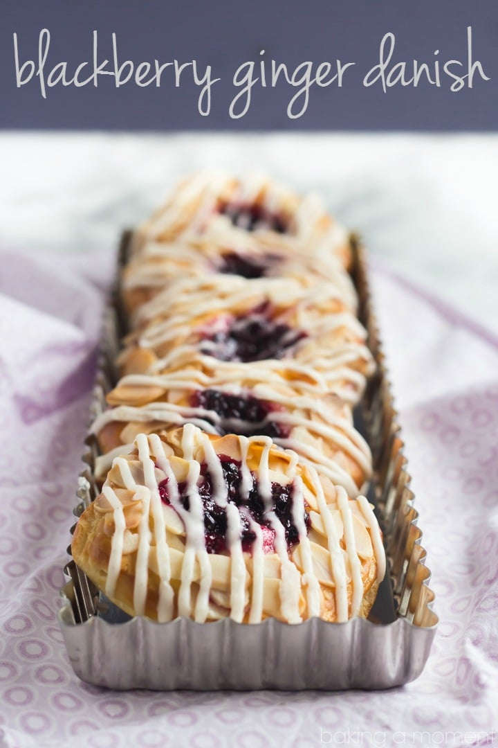 Blackberry Ginger Danish- The filling is a flavor bomb!  So crazy good with that buttery pastry and then the toasted almonds and vanilla bean glaze.  Definitely making these again!
