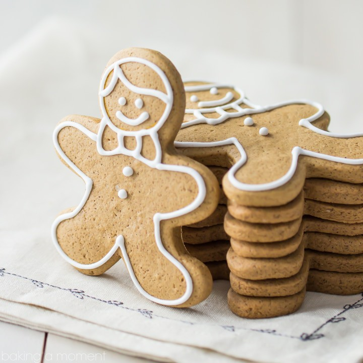 Gingerbread Cookies that Don't Spread in the Oven