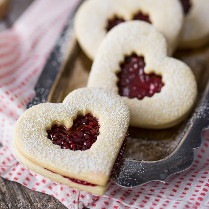 Raspberry Linzer Cookies- these are such a classic! The flavor was ...