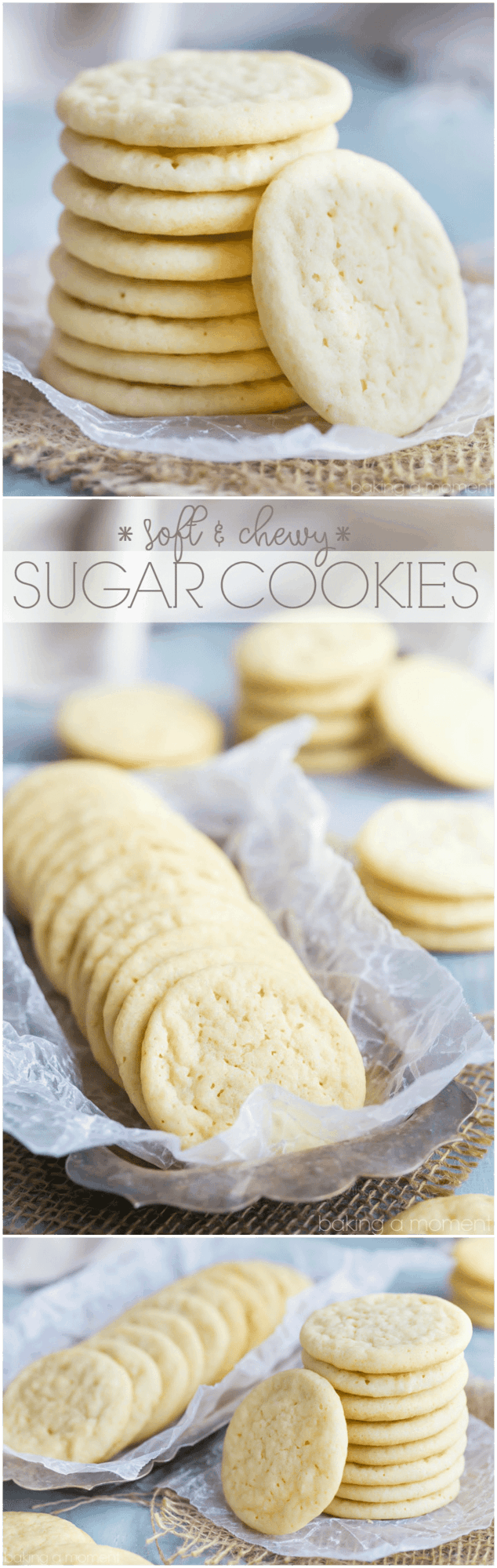 Soft and Chewy Sugar Cookies- this is my favorite recipe: great texture, buttery, and lots of vanilla!  food desserts cookies