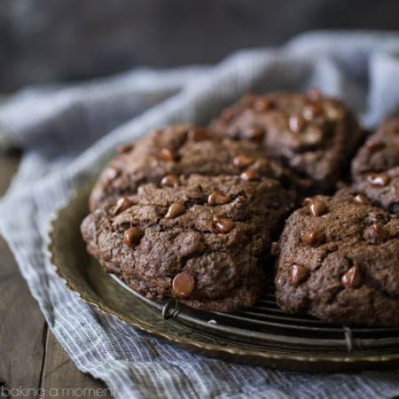 Double Chocolate Scones: what an incredible treat for breakfast or brunch! These whip up in a snap and they're so moist and chocolate-y, with plenty of chocolate chips in every bite!