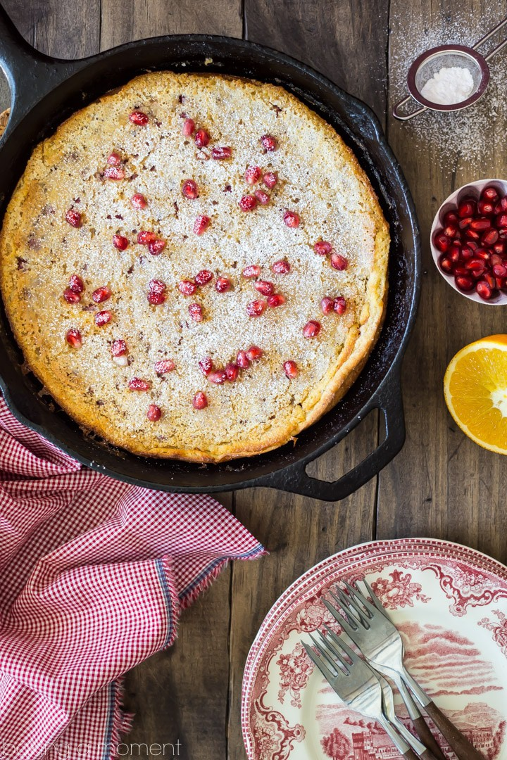 Pomegranate Orange Puffy Pancake: a perfect breakfast for a wintry weekend! #riseandshine