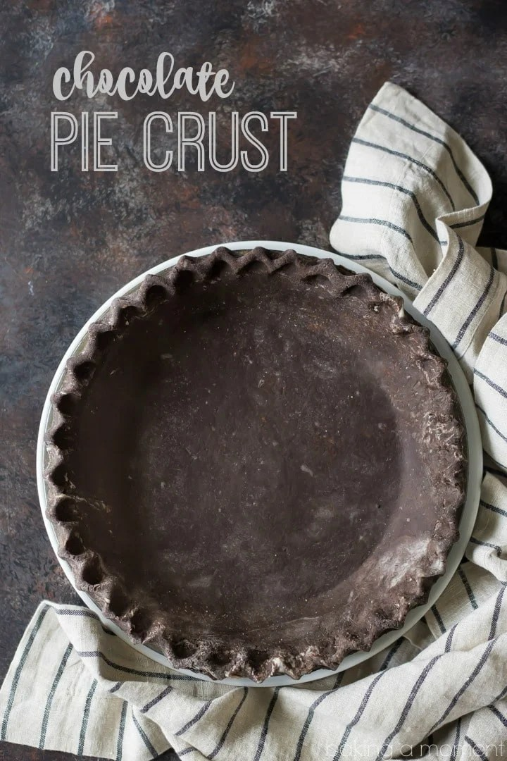 Chocolate Pie Crust: omg just think of the possibilities! This crust is the flakiest ever, thanks to a special technique, and the chocolate flavor is off the charts. The video tutorial makes it all so simple! food desserts pies