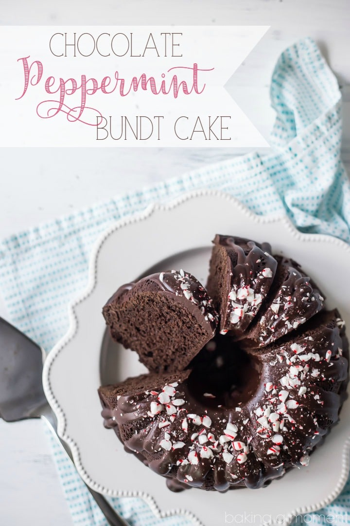Chocolate Peppermint Bundt Cake: LOVED this cake! So moist and chocolate-y, with lots of cool mint. Perfect treat for the winter holidays! food desserts cake