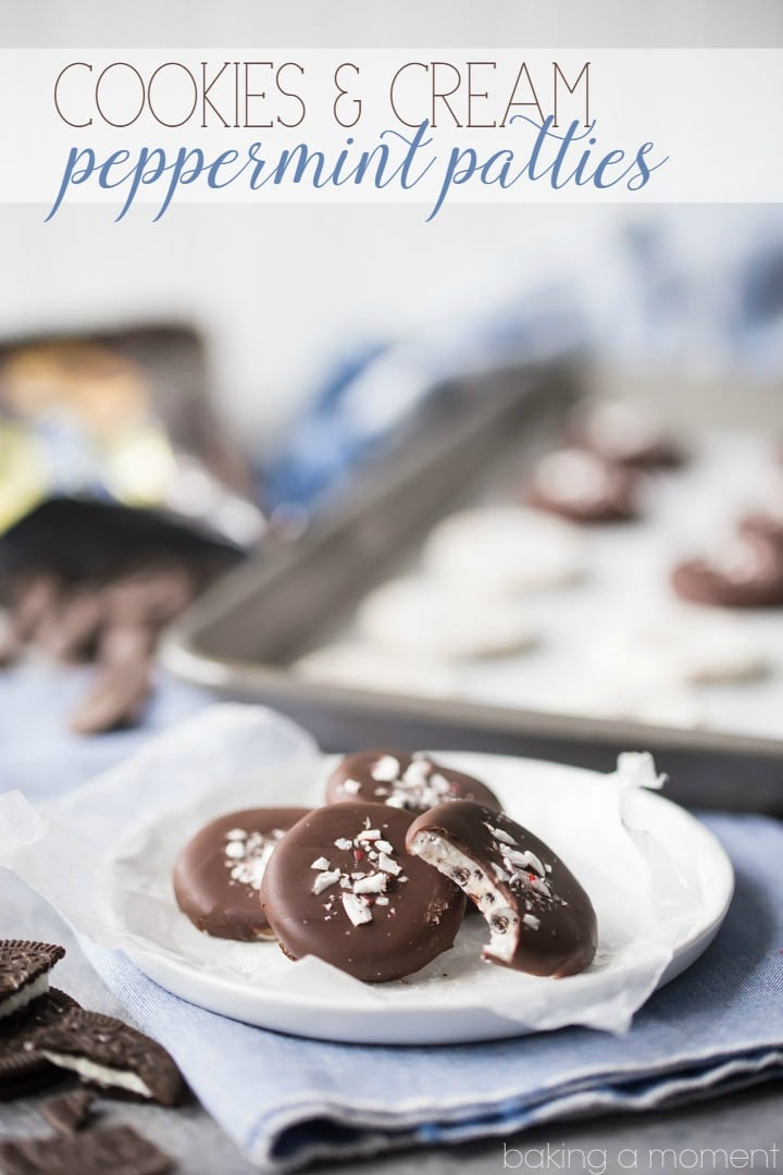 These cookies and cream peppermint patties were so much fun to make! Loved the addition of crushed Oreos, for that added cookie crunch. I'll be making these again next year as homemade Christmas gifts! food desserts candy @ghirardellico
