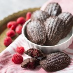 Chocolate Raspberry Madeleines