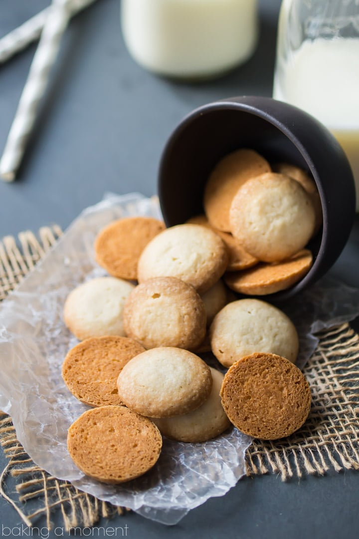 Homemade Vanilla Wafers- so simple to make, and they taste even better than the original! Light, buttery, and full of fragrant vanilla, with a texture that almost melts in your mouth. food desserts cookies