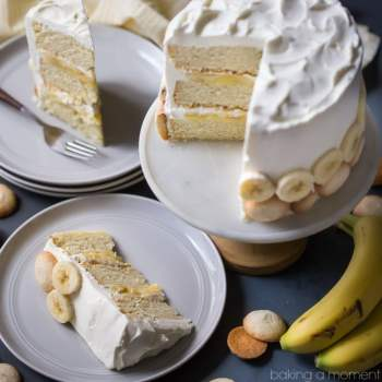 If you have a banana pudding lover in your life, you've gotta make them this cake! It's so next level. Loved the sweet bananas, moist cake, vanilla pastry cream, and whipped cream frosting. food desserts cake